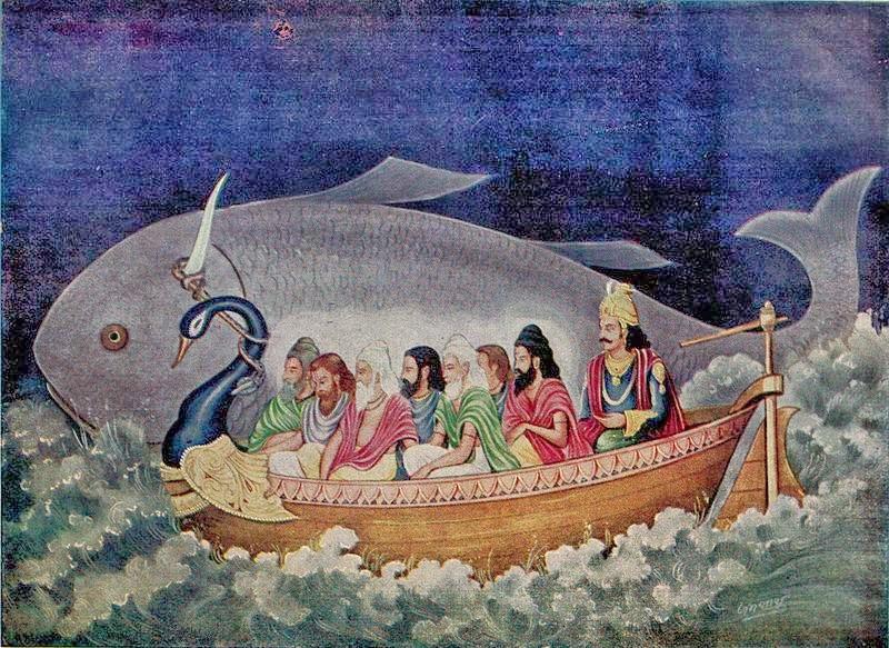Manu e il pesce Matsya